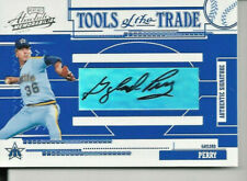 2005 Absolute Memorabilia Gaylord Perry Autograph Tools Of The Trade Auto 03/25