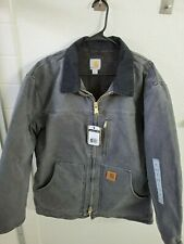 NWT Carhartt Men's Gray Ridge Sherpa Fleece Lined Warm Zip Jacket Coat Size L