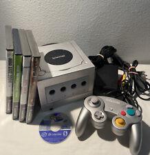Nintendo GameCube Silver Console Lot w/ Games System Bundle OEM CONTROLLER