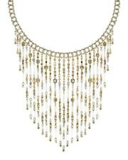 New Kendra Scott Maxen Gold Statement Necklace In Smoky Mix $295