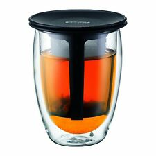 Bodum Tea FOR ONE Glass with Tea Strainer (Double-Walled Isolated 0.35 L/12)