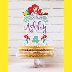 ARIEL Disney Princesses Little Mermaid Cake Topper *STURDY* Kids Birthday Party