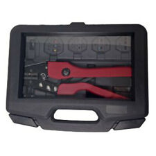 Heavy Duty Ratcheting 8 to 22 AWG Heat Shrink Terminal Crimper Tool Kit & Dies
