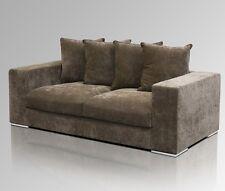 Amaris Elements   gemütliches Sofa 2-Sitzer braun Samt - Couch, 200x106xH65cm
