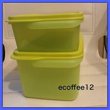Tupperware Stack N Stor Containers Medium & Large Set of 2 Margarita Green New