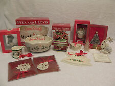 13 Piece Lenox, Spode, Fitz & Floyd, Other Christmas Decorations Nice!