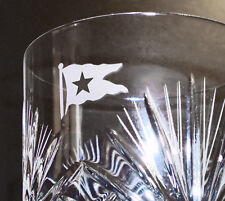 White Star Line, RMS Titanic, Hand Cut Crystal Whisky Glass, 1912 Style Replica