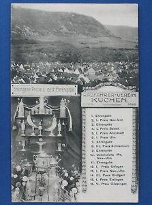 AK - RADFAHRER-VEREIN KUCHEN Fils - Errungene Preise u. Ehrengabe - Fahrrad