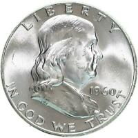 1960 Franklin Half Dollar 90% Silver BU US Coin