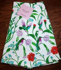 Kate Spade Hummingbird Floral Kitchen Towels Set of 2 NEW! Fast Ship!