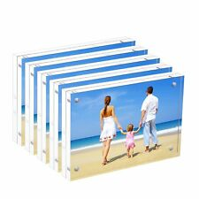 "Bulk Acrylic Picture Frames 4x6"", Clear Double Sided Block Set Retail Gift Box"