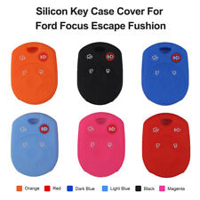4 Buttons Silicon Key Cover Case Remote Fob For Ford Focus Fushion Escape Edge