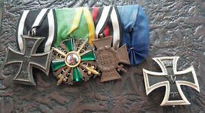 Ordensspange Ritterkreuz Zähringer Löwe + Eisernes Kreuz erster Klasse