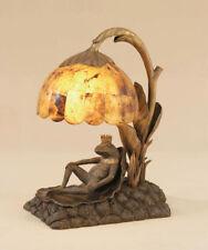 Maitland Smith 8190-17  Verdigris, Brass Frog Prince Lamp Penshell Shade NEW!