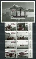 Brit. Antarktis BAT  2012 Expedition Graham-Land Schiffe 595-602 Block 22 MNH