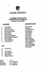 2007/08 Leeds United v Sunderland U18 FA Premier Academy League