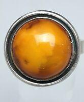 Baltischer Bernstein butterscotch - Silber Ring 925 punz. RG 57/18,1mm /A880