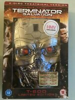 Terminator Salvation 2 Disc DVD T-600 Limited Edition Free Post HMV Exclusive
