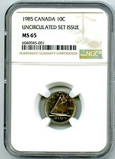 1985 CANADA 10 CENT DIME NGC MS65 UNCIRCULATED SET ISSUE