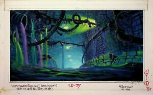 Chip 'n Dale Rescue Rangers 1989 BRIAN RAY Signed PRODUCTION BACKGROUND PAINTING