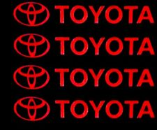 Toyota Forklift Detailer Decal Sticker 18.5 in. Lot x2, RED, Warehouse Logistic