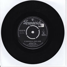 SP 45 TOURS   BRENDA LEE  It Started All Over Again BRUNSWICK 45-05876 1962