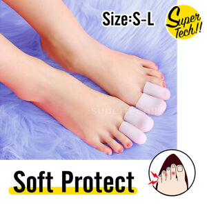 Silicone Toe Sleeve Gel Toe Cap Cover Protector Finger Tube Corn Pain Relief