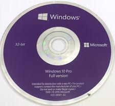 Genuine Windows 10 Pro 32 Bit Installation DVD - Bootable Windows 10 Disk