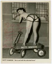 Sexy Burlesque Star Patti Waggin Original 1950s Hand Signed Glamour Photograph