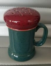 Denby Langley Harlequin Cheese Shaker Discontinued; 1992-2002 Green/Red