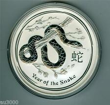 2013 $10 AUSTRALIA LUNAR Series 2 ZODIAC Year of the SNAKE 10 Oz. SILVER COIN !!