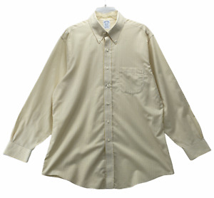 Brooks Brothers Men's Long Sleeve Button Front Shirt 16 1/2 - 33 Large Non-Iron