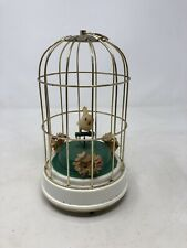 Vintage Bird Cage Music Box With Bird Moves