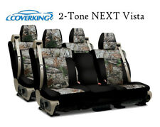 Coverking Custom Seat Covers Neosupreme Front and Rear Row Row - 2-Tone NEXT Vis