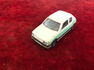 véhicule miniature 1/53 majorette peugeot 205 gti apave
