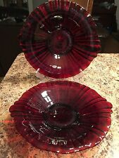 Set Of Beautiful RUBY Red Dishes Vintage GORGEOUS