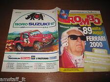 RIVISTA ROMBO 1987/7=ENZO FERRARI=CITROEN AX=RALLY SVEZIA=PHILIPPE STREIFF=