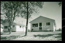 1950's RPPC Cabins 13 & 14  Honer's Resort Cotton Lake Rochert MN     B797