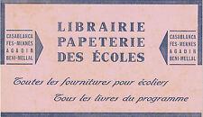 Buvard Vintage  Librairie Papeterie des écoles Casablanca