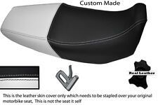 Blanco Y Negro Custom encaja Honda Xr 125 03-12 Doble Cuero Funda De Asiento