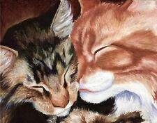 Maine Coon Cat Signed Art Print of Original Oil Painting by Vern