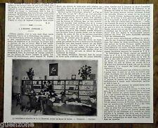 Document photo Bibliotheque enfants  l'heure joyeuse rue Boutebrie Paris 1924