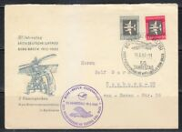 Germany DDR 1962 cover Bork-Bruck 1st Air Mail Flight 50th anniversary.Monoplane