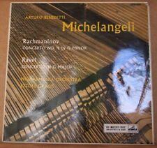 ARTURO BENEDETTI MICHELANGELI RACHMANINOV RAVEL HMV ASD 255 RED SEMI SAMPLE COPY