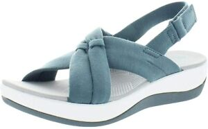 NEW Clarks Women's Arla Belle Sandal Blue Grey Size 6 W Wide