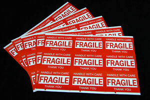 1800PCS 76x50mm Fragile Handle With Care Thank You Adhesive Label Sticker Sheet