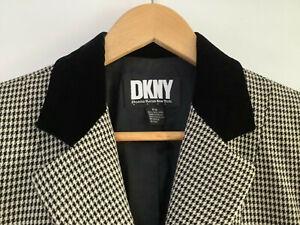Donna Karan New York DKNY Designer Black and White Business Formal Jacket Coat