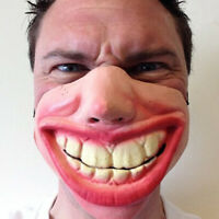 Funny Adult Party Mask Latex Clown Cosplay Half Face Horrible Halloween Masks