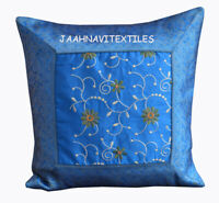 """New Indian Silk Cushion Cover Pillow Home Decorative Art 16X16"""" Inches Handmade"""