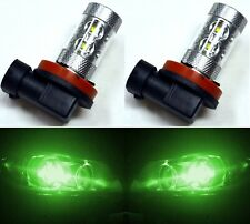 LED 50W H11 Green Two Bulbs Fog Light Replace JDM Xenon Color Show OE Lamp